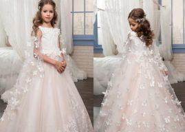 Cách chọn váy phụ dâu nhí vào mùa Đông