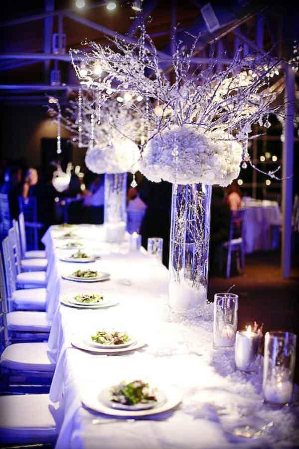 trang trí cưới noel