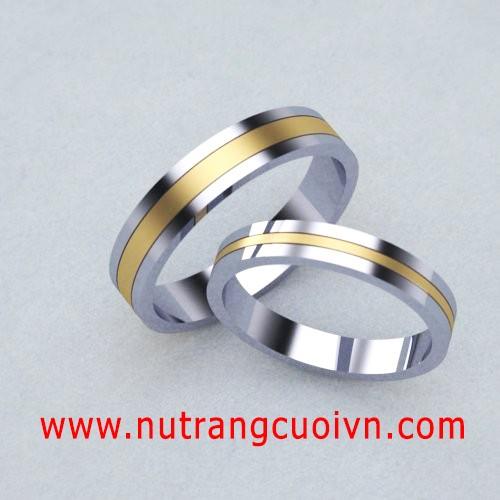 Tạo khác biệt với nhẫn cưới 2 màu vàng-trắng - 118796