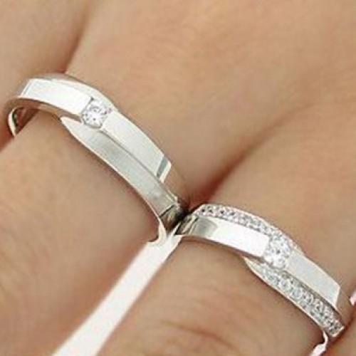 Nhẫn cưới trắng HNC05