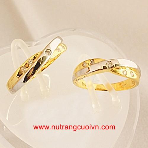 Tạo khác biệt với nhẫn cưới 2 màu vàng-trắng - 118795
