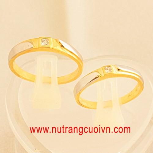 Tạo khác biệt với nhẫn cưới 2 màu vàng-trắng - 118794