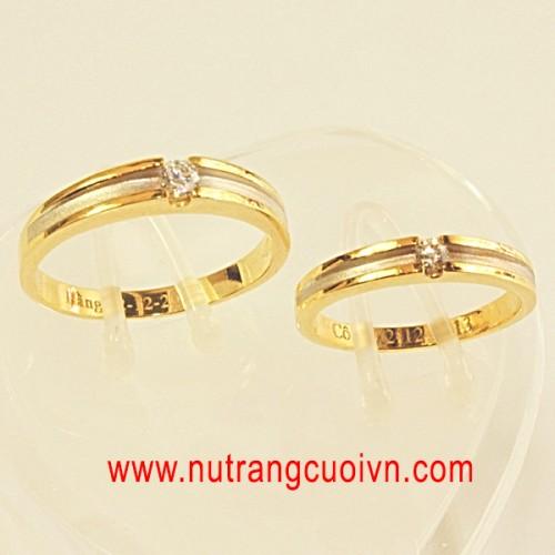 Tạo khác biệt với nhẫn cưới 2 màu vàng-trắng - 118793