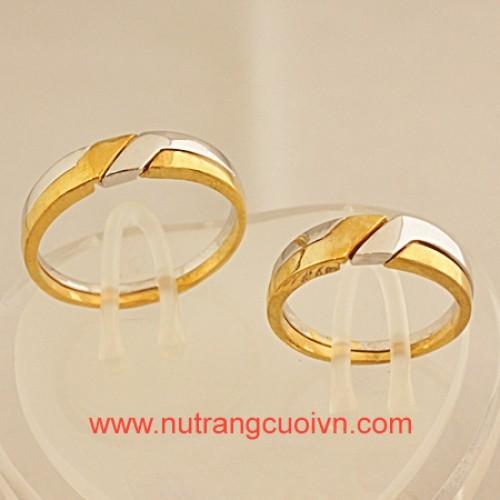 Tạo khác biệt với nhẫn cưới 2 màu vàng-trắng - 118792