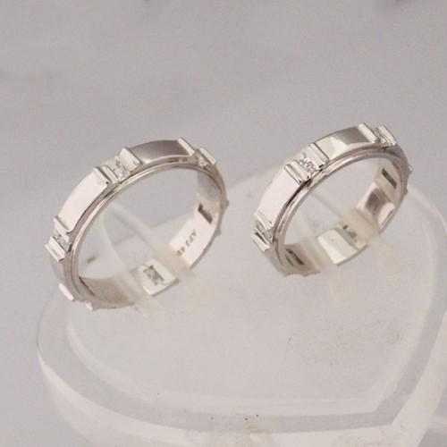 Nhẫn cưới vàng trắng ANC67