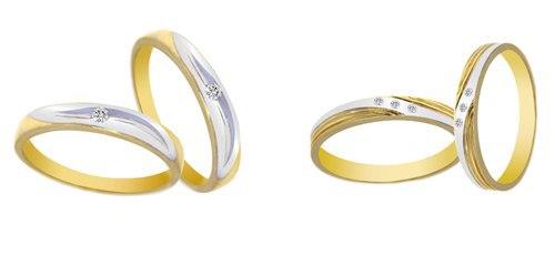 Nhẫn cưới 2 màu say đắm các cặp đôi