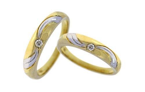 Nhẫn 2 màu tình yêu vàng son