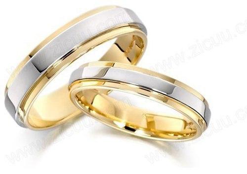 Nhẫn cưới 2 màu truyền thống