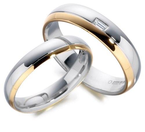 Nhẫn cưới 2 màu hiện đại