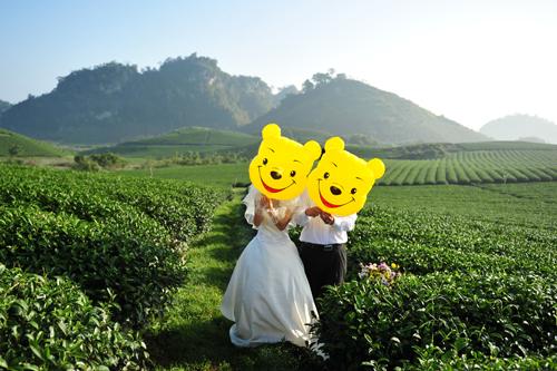 Tự chụp ảnh cưới
