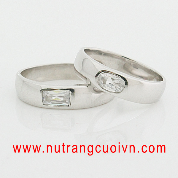 nhẫn cưới đẹp - nhẫn cưới vàng trắng