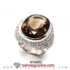 Mua Nhẫn thạch anh khói chàm NTAK02 tại Anh Phương Jewelry