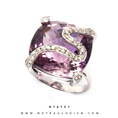Nhẫn bạc đá thạch anh tím NTAT07