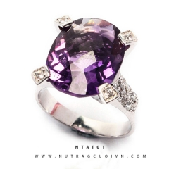 Mua Nhẫn bạc đá thạch anh tím NTAT01 tại Anh Phương Jewelry