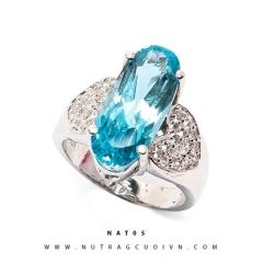 Nhẫn bạc mặt đá Topa NAT05