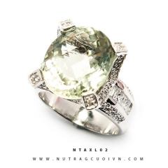 Nhẫn bạc thạch anh xanh NTAXL02
