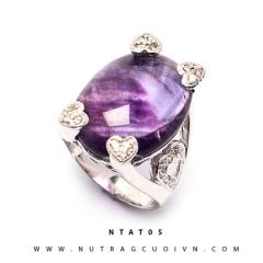 Nhẫn bạc đá thạch anh tím NTAT05