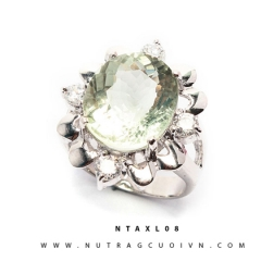 Nhẫn bạc thạch anh xanh NTAXL08