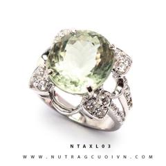 Nhẫn bạc thạch anh xanh NTAXL03