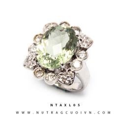 Nhẫn bạc Thạch Anh Xanh NTAXL05