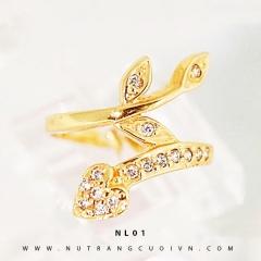 Mua Nhẫn kiểu nữ 18K NL01 tại Anh Phương Jewelry