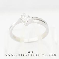 Nhẫn nữ vàng trắng NL25