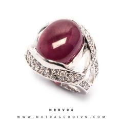 Mua Nhẫn bạc mặt đá Ruby NRBV04 tại Anh Phương Jewelry