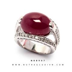 Mua Nhẫn bạc mặt đá Ruby NRBV07 tại Anh Phương Jewelry