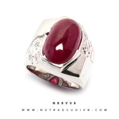 Mua Nhẫn bạc mặt đá Ruby NRBV08 tại Anh Phương Jewelry