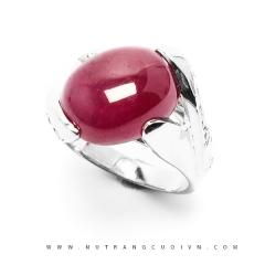 Nhẫn bạc mặt đá Ruby NRBV09