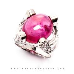 Nhẫn bạc mặt đá Ruby NRBV10