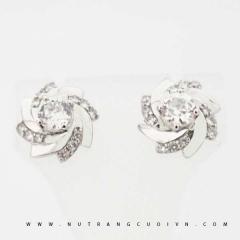 Mua Bông tai vàng trắng PBT73 tại Anh Phương Jewelry