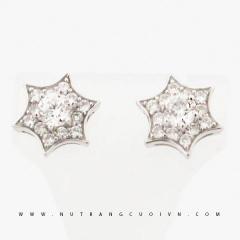 Mua Bông tai vàng trắng PBT77 tại Anh Phương Jewelry