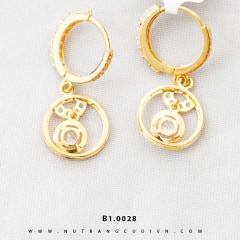 Bông tai vàng B1.0028