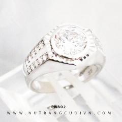 Nhẫn nam vàng trắng PNB02