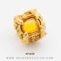 Mua Nhẫn Cá Chép Hóa Rồng APJ020 tại Anh Phương Jewelry