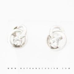 Mua Bông tai vàng trắng PBT84 tại Anh Phương Jewelry
