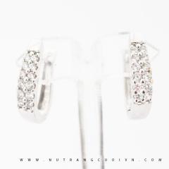 Mua Bông tai vàng trắng PBT72 tại Anh Phương Jewelry