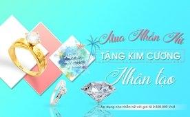 Mua nhẫn nữ tặng kim cương
