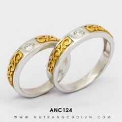 Nhẫn Cưới Vàng Trắng ANC124