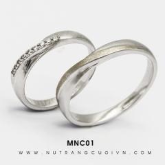 Mua Nhẫn Cưới Vàng Trắng MNC01 tại Anh Phương Jewelry