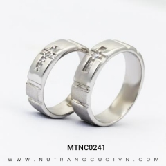 Mua Nhẫn Cưới Vàng Trắng MTNC0241 tại Anh Phương Jewelry
