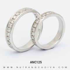 Mua Nhẫn Cưới Vàng Trắng ANC125 tại Anh Phương Jewelry