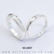 Mua Nhẫn Cưới Vàng Trắng NC.0097 tại Anh Phương Jewelry