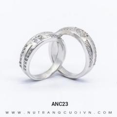 Mua Nhẫn Cưới Vàng Trắng ANC23 tại Anh Phương Jewelry
