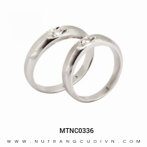 Mua Nhẫn Cưới Vàng Trắng MTNC0336 tại Anh Phương Jewelry