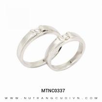 Mua Nhẫn Cưới Vàng Trắng MTNC0337 tại Anh Phương Jewelry