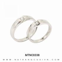 Mua Nhẫn Cưới Vàng Trắng MTNC0338 tại Anh Phương Jewelry