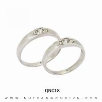Mua Nhẫn Cưới Vàng Trắng QNC18 tại Anh Phương Jewelry