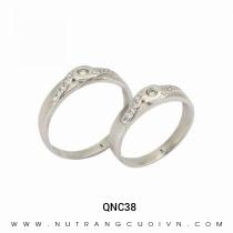 Mua Nhẫn Cưới Vàng Trắng QNC38 tại Anh Phương Jewelry